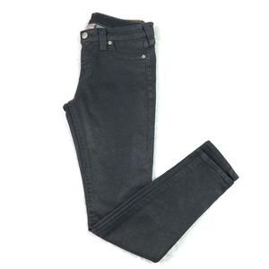 True Religion Women' s Skinny Jeans Black Coated